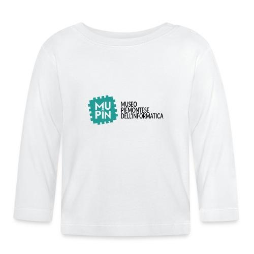 Logo Mupin con scritta - Maglietta a manica lunga per bambini