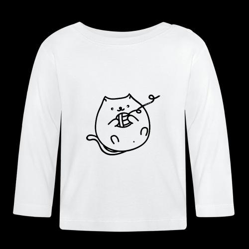 classic fat cat - Baby Langarmshirt