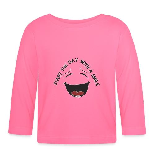 Zacznij dzień z uśmiechem - Koszulka niemowlęca z długim rękawem