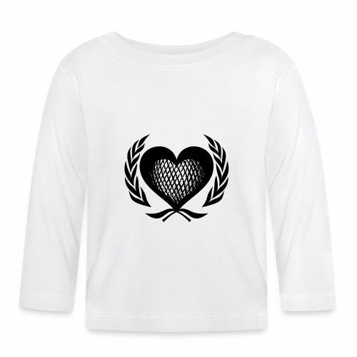 Herz Kranz Gitter Netz Logo Emblem Geschenkidee - Baby Langarmshirt
