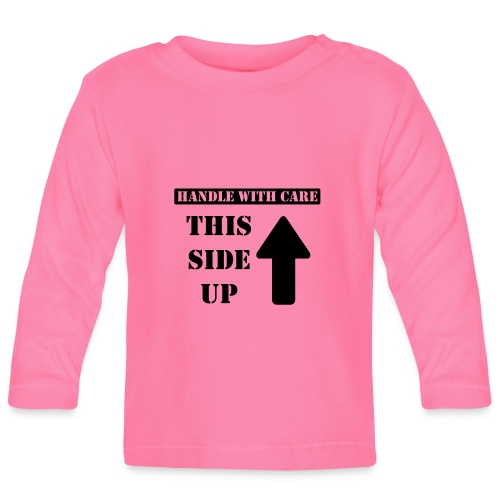 Handle with care / This side up - PrintShirt.at - Baby Langarmshirt