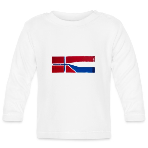 VHEH - CONNECTION (Norwegian Dutch Flag) - Baby Long Sleeve T-Shirt