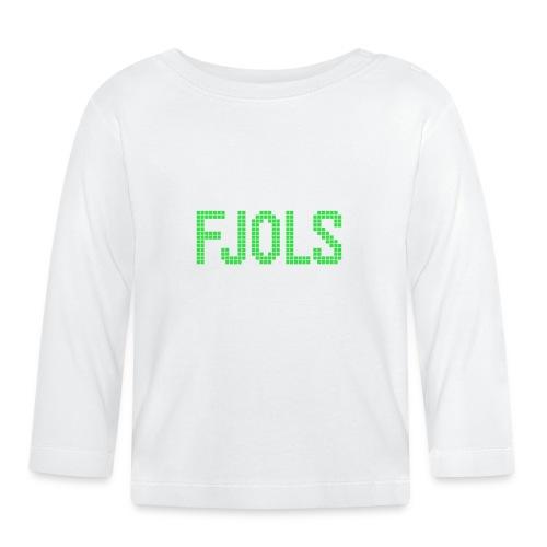 FJOLS Grøn - Langærmet babyshirt