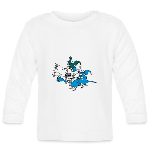 Witches on broomsticks Men's T-Shirt - Baby Long Sleeve T-Shirt