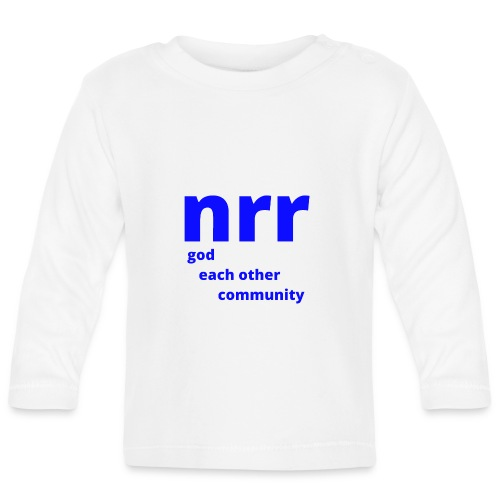 NEARER logo - Baby Long Sleeve T-Shirt