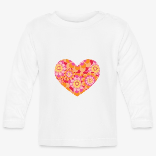 Floral Hearts - Baby Long Sleeve T-Shirt