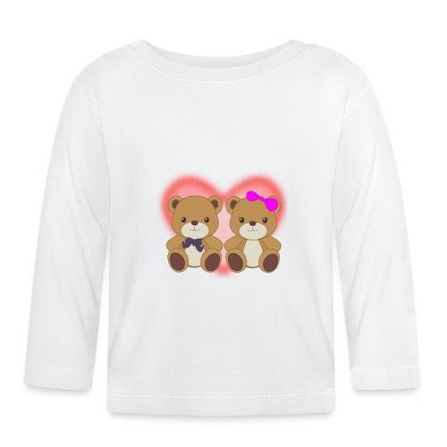 Orsetti con cuore - Maglietta a manica lunga per bambini