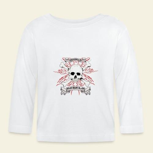 skull - Langærmet babyshirt