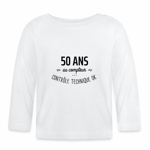 50 ans au compteur - T-shirt manches longues Bébé