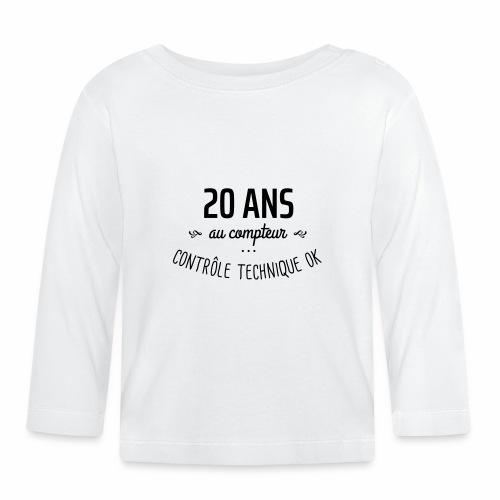 20 ans au compteur - T-shirt manches longues Bébé