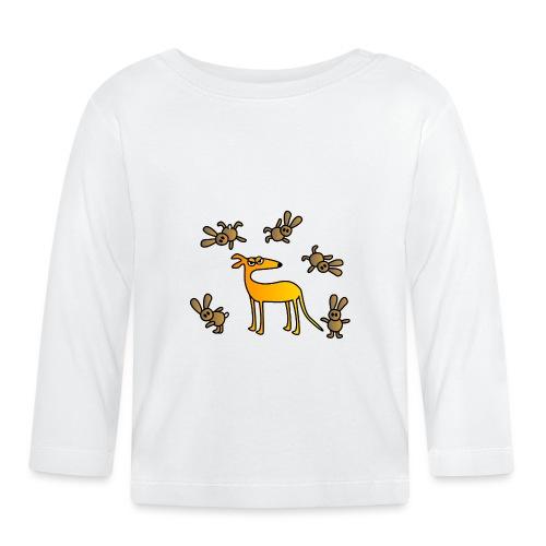 Galgo und Hasen - Baby Langarmshirt