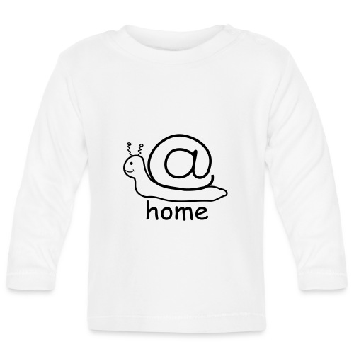 at home schnecke - Baby Langarmshirt