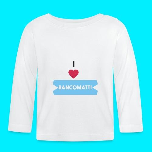 I LOVE BANCOMATTI CUOREnero - Maglietta a manica lunga per bambini