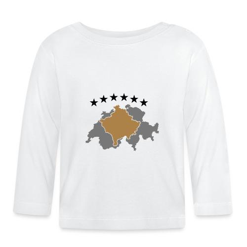 Kosovo Schweiz - Baby Langarmshirt