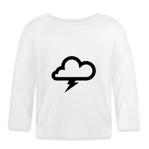 Wolke mit Blitz - Baby Langarmshirt