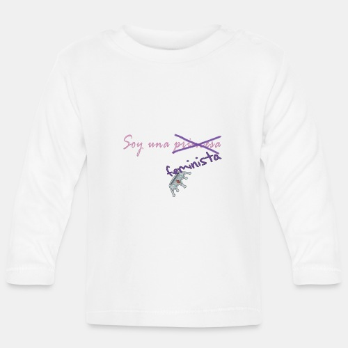 Soy feminista, no princesa - Camiseta manga larga bebé