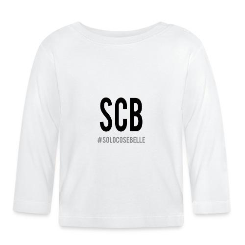 scb scritta nera - Maglietta a manica lunga per bambini