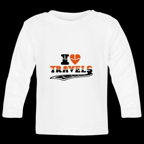 i love travels surprises 2 col - Baby Long Sleeve T-Shirt