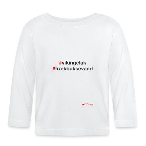 Hashtag - Langærmet babyshirt