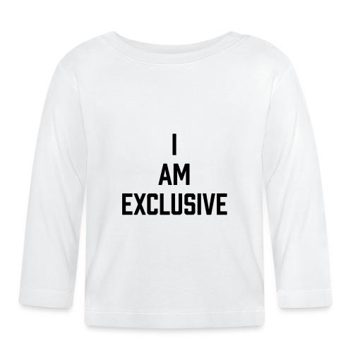 I am Exclusive - Baby Langarmshirt