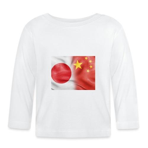japan china flag - Maglietta a manica lunga per bambini