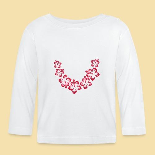 Hawaii Blumenkette - Baby Langarmshirt