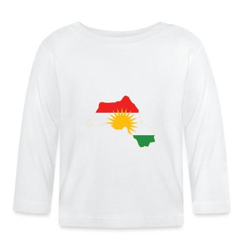 Kurdistan Flag Map - Baby Langarmshirt