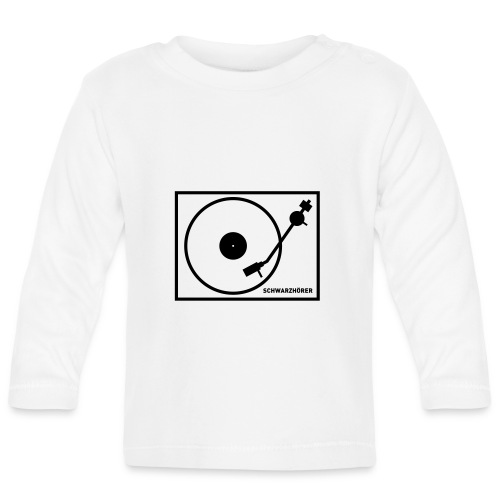 Schwarzhörer 2 Plattenspieler - Baby Langarmshirt