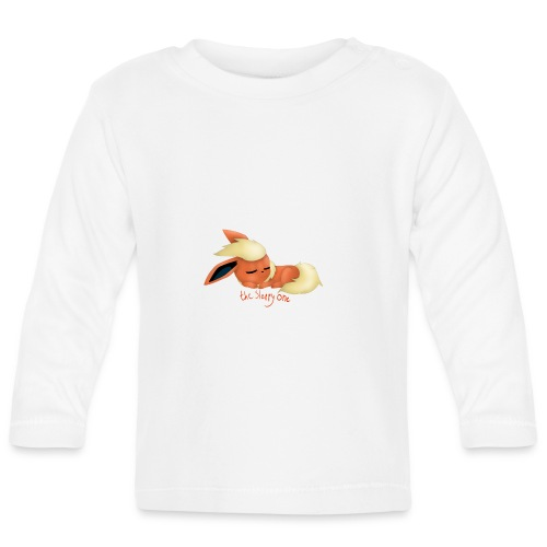 eevee - flareon - the sleppy one - Baby Long Sleeve T-Shirt