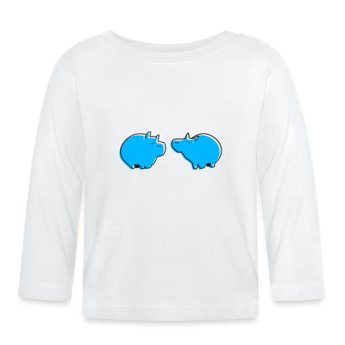 Cochons bleus - T-shirt manches longues Bébé