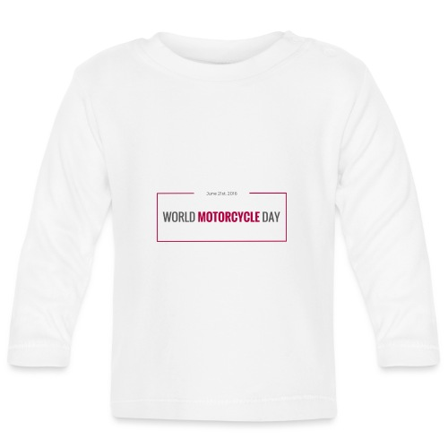 World Motorcycle Day 2016 Official T-Shirt ~ Grey - Baby Long Sleeve T-Shirt