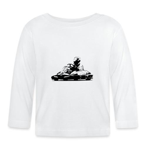 Kart Silhouette T-Shirt - Baby Long Sleeve T-Shirt