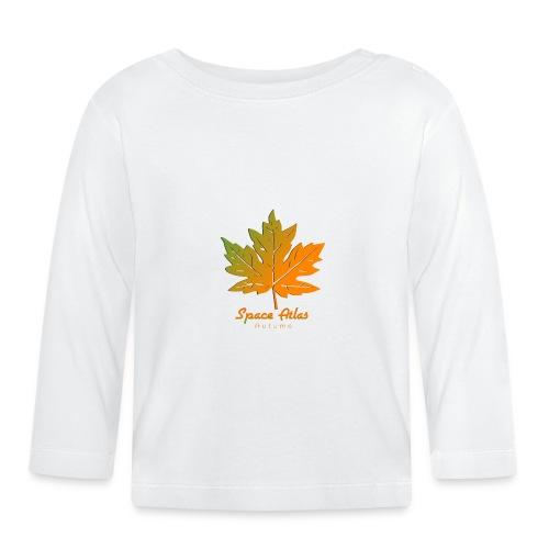 Space Atlas Long Sleeve T-shirt Autumn Leaves - Langærmet babyshirt