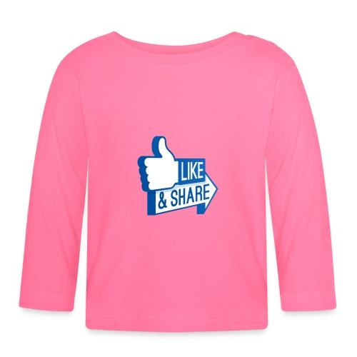 Like & Share (Facebook) - Maglietta a manica lunga per bambini