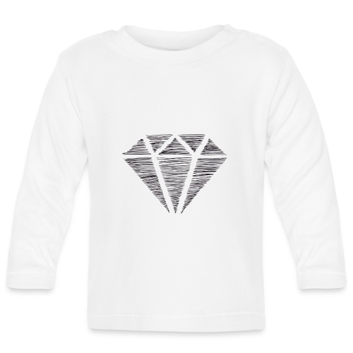 Diamante - Camiseta manga larga bebé