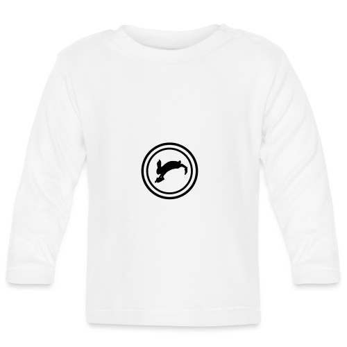 Bunny_Black2 - Langærmet babyshirt
