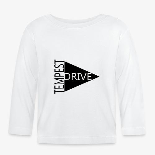 Komprimeret logo - Langærmet babyshirt