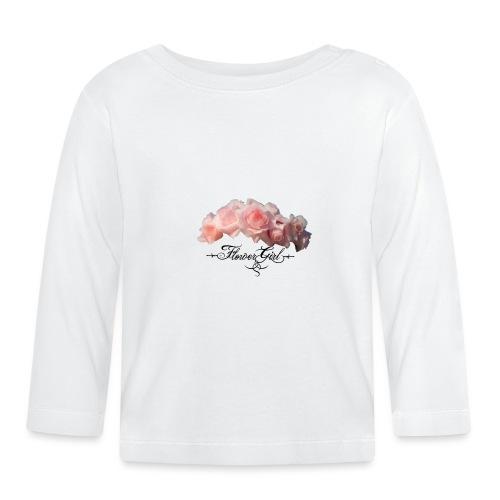 flower girl - Langærmet babyshirt