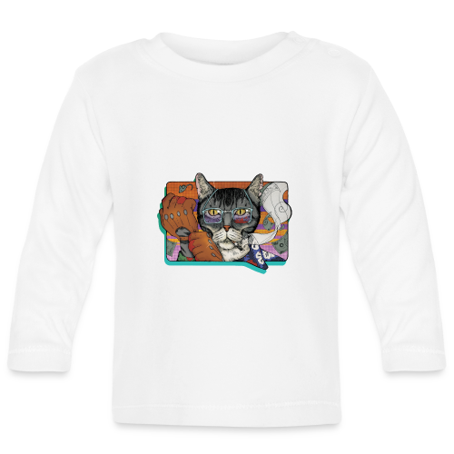 Crime Cat - Koszulka niemowlęca z długim rękawem