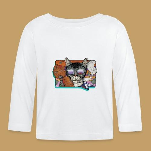 Crime Cat in Shades - Koszulka niemowlęca z długim rękawem