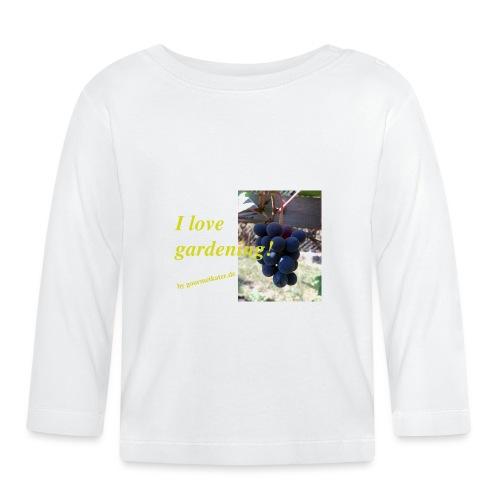 Weintraube - I love gardening - Baby Langarmshirt