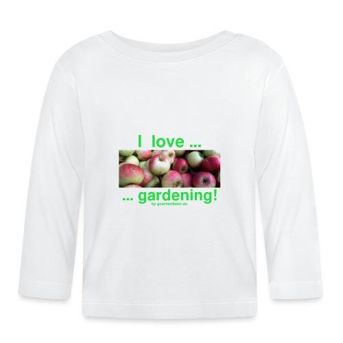 Äpfel - I love gardening! - Baby Langarmshirt