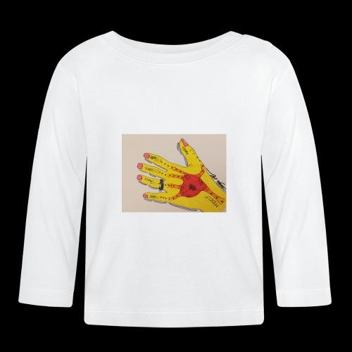 9D8D600F D04D 4BA7 B0EE 60442C72919B - Langærmet babyshirt