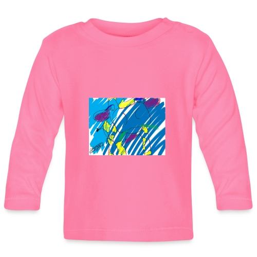 Signed Rainbow Cow - Baby Long Sleeve T-Shirt