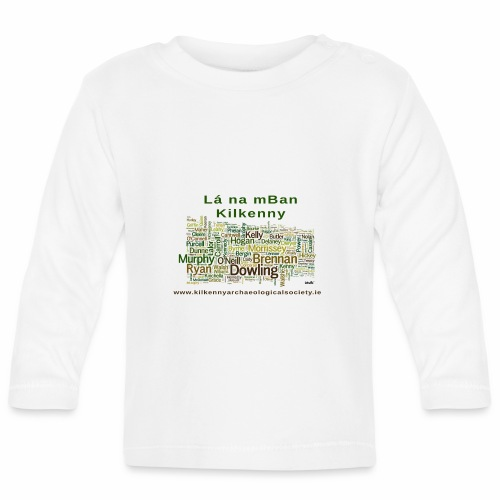Lá na mban Kilkenny Wordle - Baby Long Sleeve T-Shirt