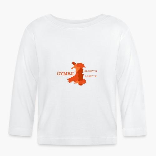 Cymru - Latitude / Longitude - Baby Long Sleeve T-Shirt