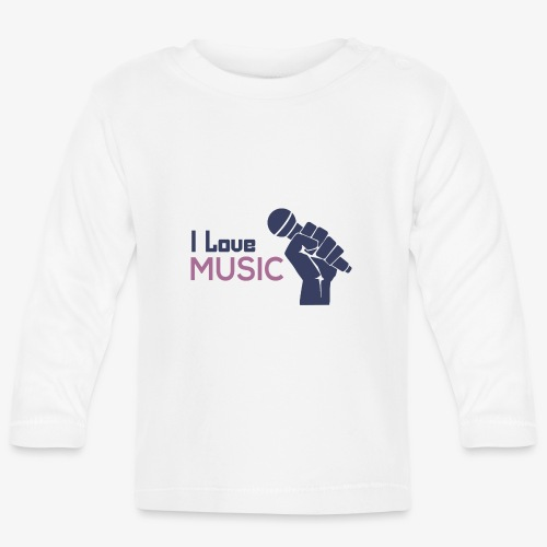Amo la música - Camiseta manga larga bebé