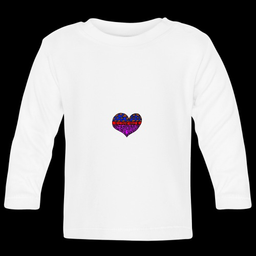 Herz Leben Welt Love you - Baby Langarmshirt
