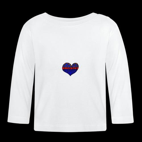 Herz Leben Welt Love you Blau - Baby Langarmshirt