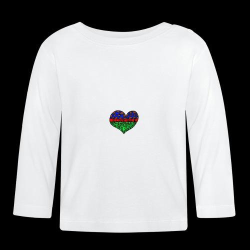 Herz Leben Welt Love you green - Baby Langarmshirt